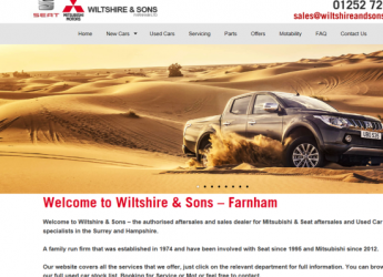 Wiltshire and Sons – Website Update